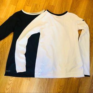Nike pro dri fit long sleeve bundle /lot of shirts